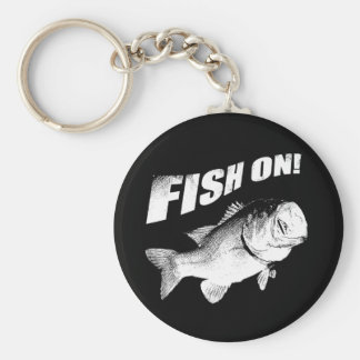 Largemouth bass fish on keychain