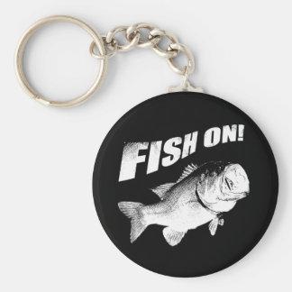 Largemouth bass fish on keychain