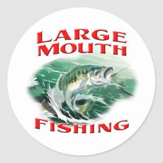 Largemouth Bass Fishing Classic Round Sticker