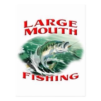 Largemouth Bass Fishing Postcard