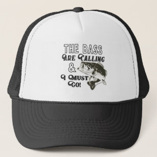 Largemouth Bass Fishing Quote Funny Hat
