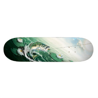 Largemouth Bass Fishing Skateboard Deck