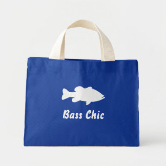 Largemouth Bass Fishing template Tote Bags