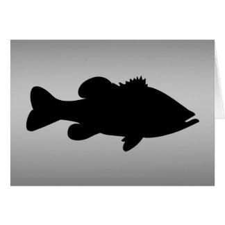 Largemouth Bass Fishing template Stationery Note Card