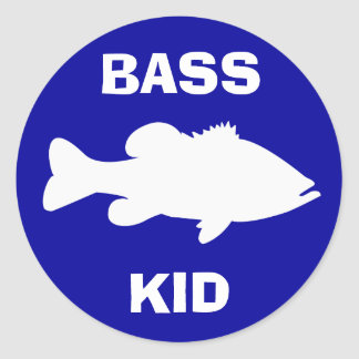 Largemouth Bass Fishing template Classic Round Sticker