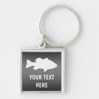Largemouth Bass Fishing template Keychain