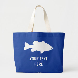 Largemouth Bass Fishing template Large Tote Bag
