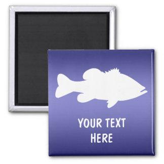 Largemouth Bass Fishing template Magnet