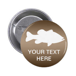 Largemouth Bass Fishing template Pinback Button