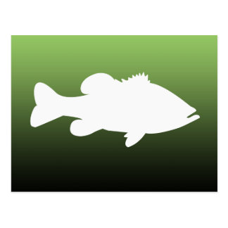 Largemouth Bass Fishing template Postcard