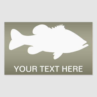Largemouth Bass Fishing template Rectangular Sticker