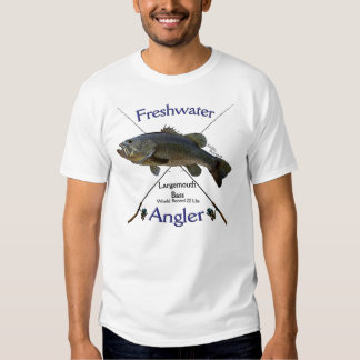 Largemouth Bass Freshwater angler fishing Tshirt. T Shirt