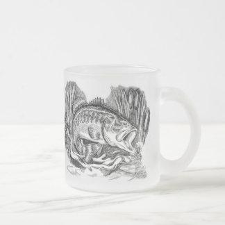 Largemouth Bass Frosted Glass Coffee Mug