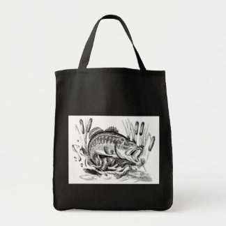 Largemouth Bass Grocery Tote Bag