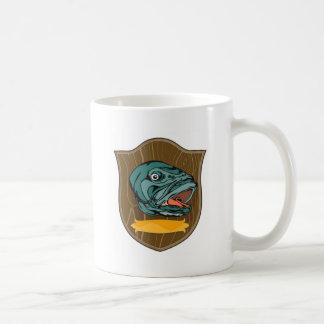largemouth bass head trophy coffee mug