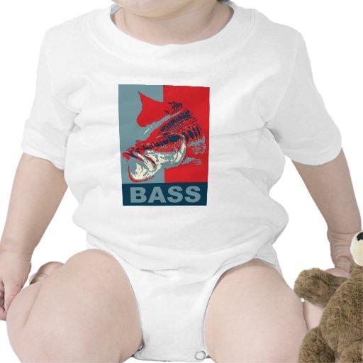 Largemouth Bass Iconized Baby Bodysuits