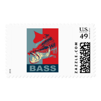 Largemouth Bass Iconized Postage Stamps