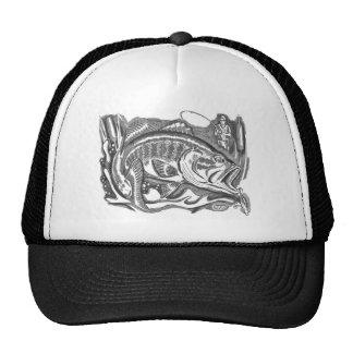 Largemouth Bass in the cattails Trucker Hat