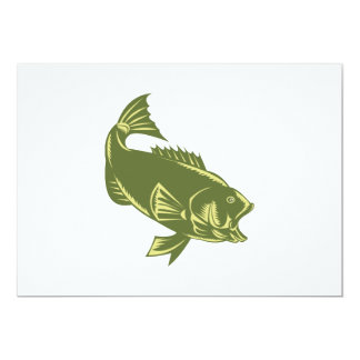 largemouth bass jumping card