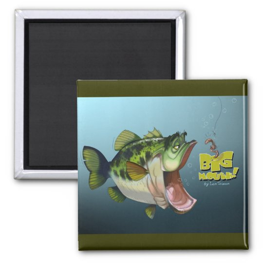LargeMouth Bass Magnet