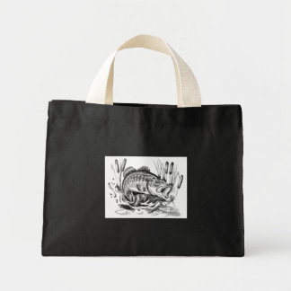 Largemouth Bass Mini Tote Bag