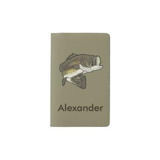 Largemouth Bass Name Customizable Pocket Moleskine Notebook