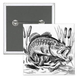 Largemouth Bass Pinback Button