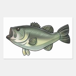 Largemouth Bass Rectangular Sticker