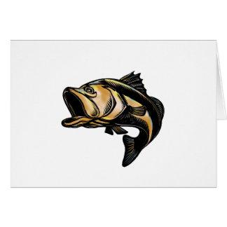 Largemouth Bass Scratchboard Card