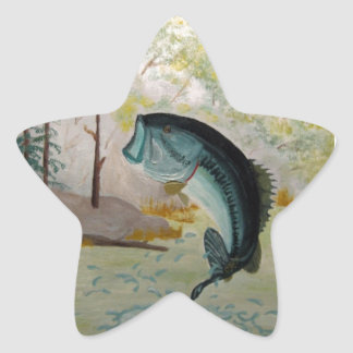 Largemouth Bass Star Sticker