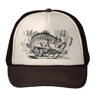 Largemouth bass hats zazzle for Bass fishing hats