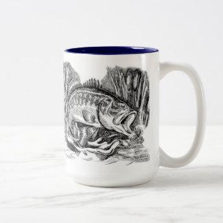 Largemouth Bass Two-Tone Coffee Mug