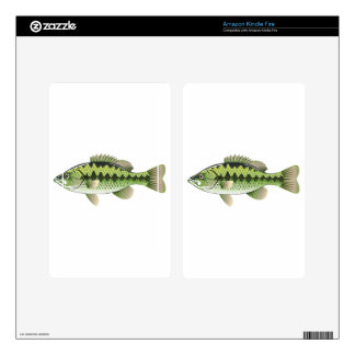 Largemouth Spotted Green American Bass Vector Decal For Kindle Fire