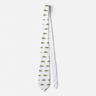 Largemouth Spotted Green American Bass Vector Neck Tie