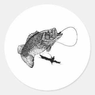 Largemouthed Bass Classic Round Sticker