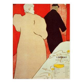 LArgent by Toulouse-Lautrec Postcard