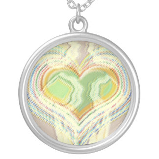 Larger than life Heart Round Pendant Necklace