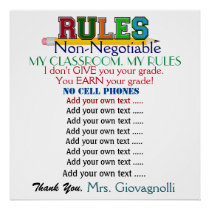 Larger Version Teacher Classroom Rules Poster