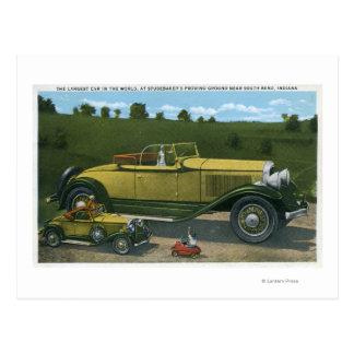 Largest Car in World, Studebaker Proving Postcard