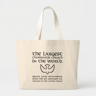 Largest Charismatic Church Black and White Canvas Bag