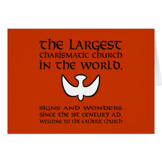 Largest Charismatic Church Black and White Card