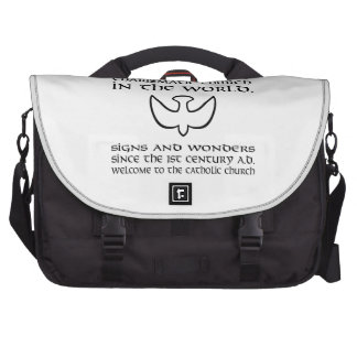 Largest Charismatic Church Black and White Commuter Bag