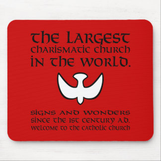 Largest Charismatic Church Black and White Mousepad