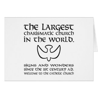 Largest Charismatic Church in the world Black Card