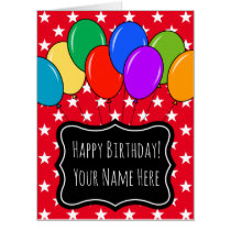 Largest oversized Birthday balloons greeting card