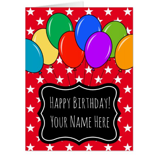 Largest oversized birthday balloons greeting card zazzle largest oversized birthday balloons greeting card m4hsunfo