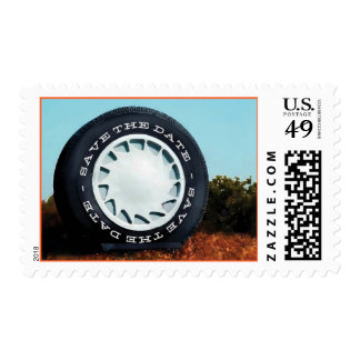 Largest Tire in the World Save the Date Postage