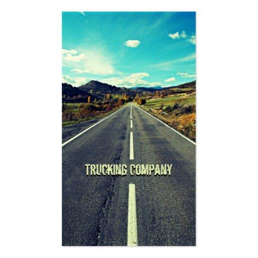 Largo camino a la tarjeta de visita del camionero
