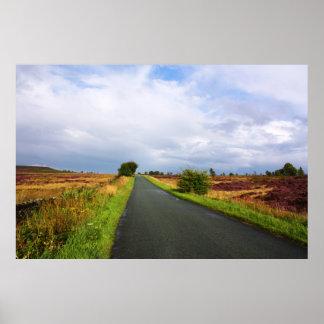 Largo camino en el distrito máximo, Reino Unido Impresiones