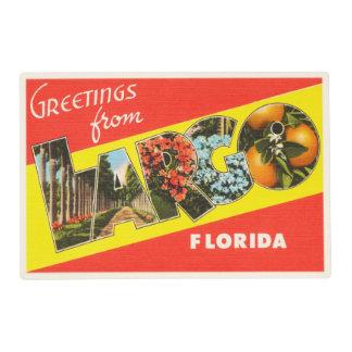 Largo Florida FL Old Vintage Travel Souvenir Placemat